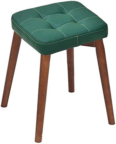 JINYUNDA Sofá taburete de piel sintética con taburete alto sencillo creativo dormitorio salón comedor banco perezoso estable
