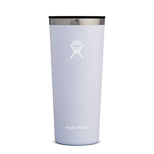 Hydro Flask Tumbler Cup - Stainless Steel & Vacuum Insulated - Press-In Lid - 22 oz, Fog