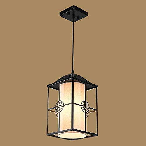 MJK Candelabros de novedad, estilo chino de nuevo estilo, lámpara de jaula de pájaros de hierro forjado, candelabro de restaurante con personalidad creativa, candelabros nórdicos de 20 * 35Cm para el