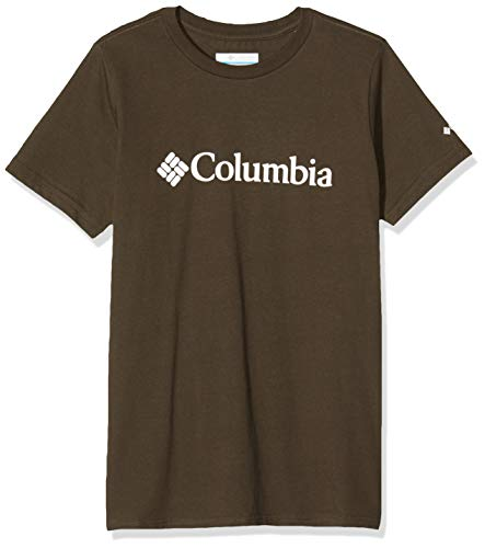 Columbia CSC Basic Logo Youth Camiseta, Niños, Verde Oliva, Small