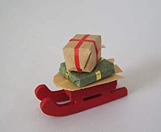 Unbekannt Schlitten mit Geschenke weihnachtliche Puppenhaus Dekoration Miniatur 1:12