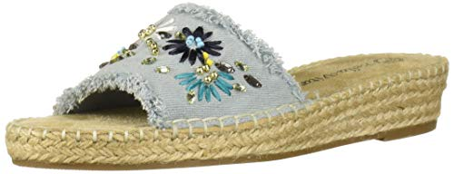 Bella Vita Women's Bella Vita Cher II espadrille sandal Shoe, Light Denim fabric, 5.5 M US