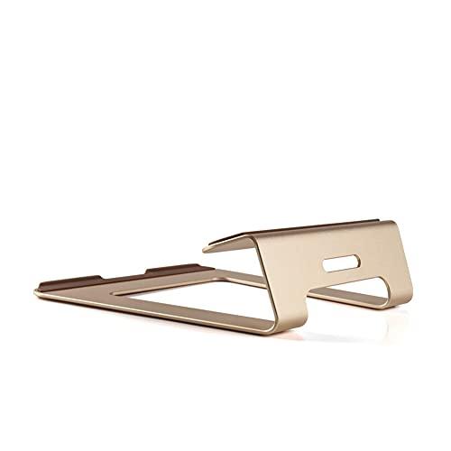 Rcherish Soporte para portátil, Soporte portátil extraíble de Aluminio, Soporte de Cuaderno ventilado Compatible con MacBook Pro/Air, 11-15'portátil,Oro