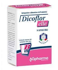 Dicoflor Elle - Integratore naturale di PROBIOTICI specifico per la flora batterica intestinale femminile - Lactobacillus Rhamnosus e Reuteri - SENZA GLUTINE - confezione da 14 capsule