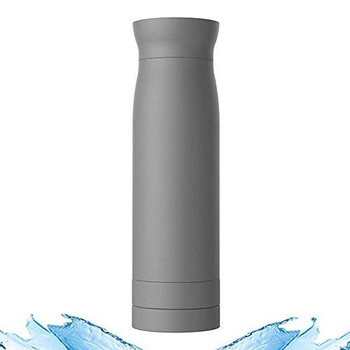 ORPERSIST Bouteille Thermoses Isotherme Mug De Voyage en Acier Inoxydable avec Boîte De Rangement Inférieure à Double Couche Gris