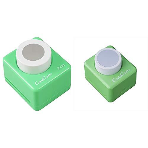 【セット買い】カール事務器 クラフトパンチ ミドルサイズ サークル(2.0mm) CN25A20 直径20mm & クラフトパンチ ミドルサイズ 1サークル CP-2