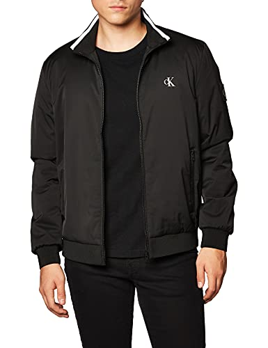 Calvin Klein Jeans Nylon Harrington Jacket Chaqueta, CK Negro, M para Hombre