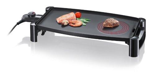 Severin KG 2388 Gril de Table (2.200 Watt, avec Élément Hotzone) Noir