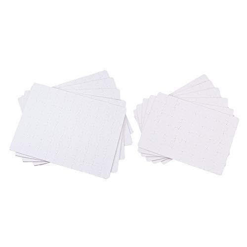 WANDIC - Puzzle bianco per fai da te personalizzato, 12 pezzi bianchi, stampa sublimatica a caldo, per creare i tuoi puzzle