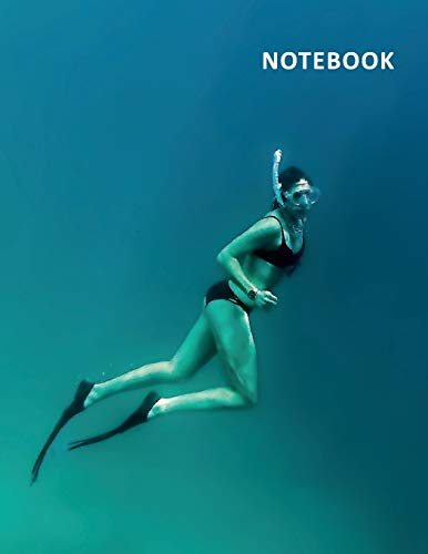 College Ruled Notebook: Snorkel mask Terrific Composition Book Daily Journal Notepad Diary snorkeling vs scuba diving