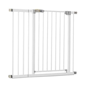 Hauck Barrière de Sécurité pour Enfants Open N Stop KD incl. Extension de 21 cm / de 96 à 101 cm / Sans Percage / Métal / blanc
