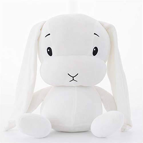 YGMDSL Weiches Spielzeug Spielzeug Das Kaninchen Süß Puppe Mit Schlafen Geschenk,White,L
