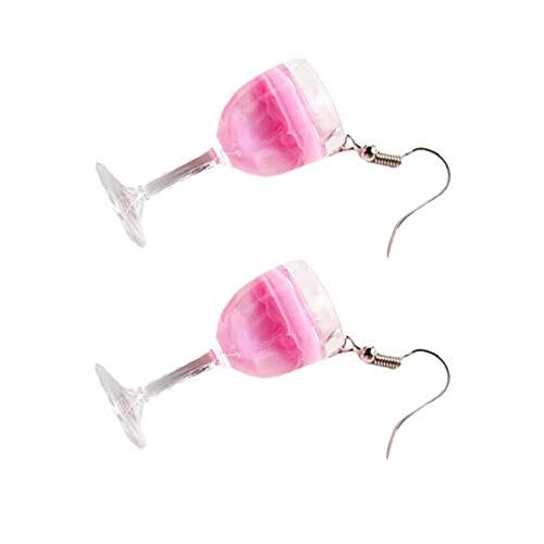 Holibanna 1 Paar Becher Ohrringe Harz Bier Becher Obst Saft Perle Milch Tee Ohrringe Lustige Party Ohr Danglers für Frauen Kreative Schmuck Geschenk Zufällige Farbe