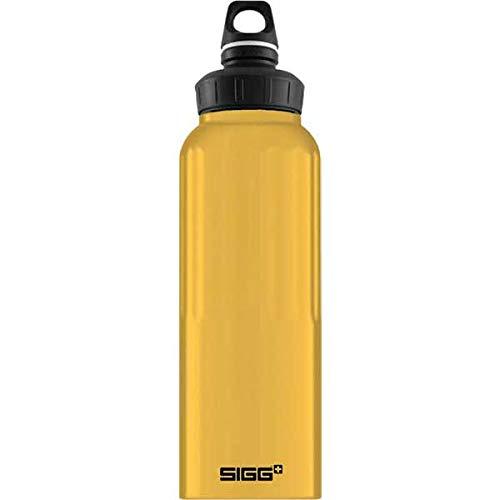 シグ(Sigg) アウトドア キャンプ アルミボトル ワイドマウス トラベラー マスタード 1.5L 60200