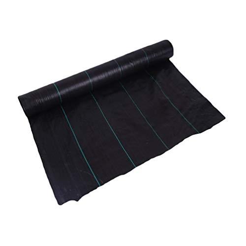 Yeeyuan Anti-Unkrautgewebe Unkrautvlies Unterbodengewebe Bändchengewebe Gartenvliese UV stabil 100g/m², 1m x 15m, 2m x 10m