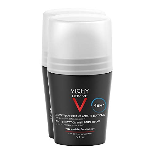 VICHY HOMME Deo Roll-on für sensible Haut 48h DP 2X50 ml