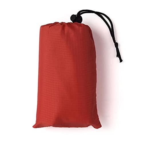 SMEJS 140 * 150 cm Pocket Picnic Impermeable Playa Mat Arena Manta Libre Camping Tienda al Aire Libre Cubierta Plegable Ropa de Cama (Color : Red)