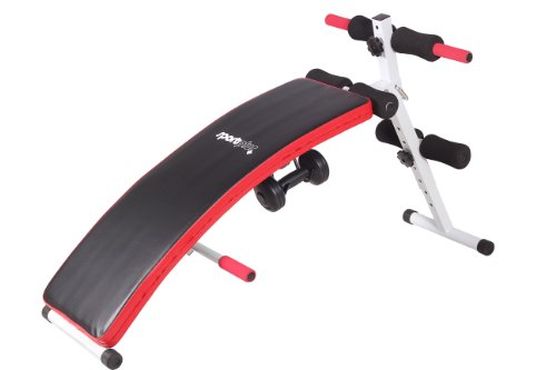 SportPlus Multifunctional Trainer Power Sit-Up Bank mit 2x 1,5 kg Hanteln SP-SUB-001-W