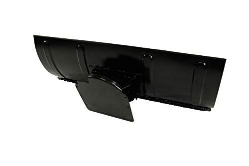 Viron Schneeschild mit Schürfleiste 100x44 cm, inkl. Universal- Montageplatte - Schneepflug Schneeschieber Räumschild für Quad, ATV und Kleintraktoren, Rasenmäher
