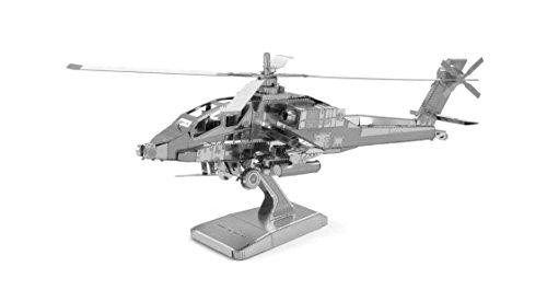 Fascinations Metal Earth MMS083-502470, AH-64 Apache Helicopter, constructiespeelgoed, 2 metalen platen, vanaf 14 jaar