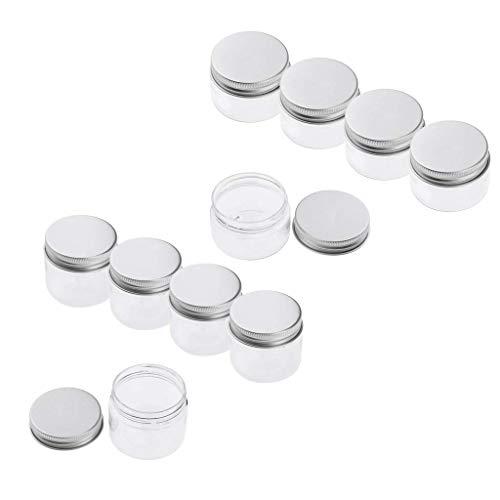 Sharplace 10x Pot Vide Cosmétique de Voyage Bocaux Stockage de Crèmes Échantillons De Maquillage 30ml+ 50ml