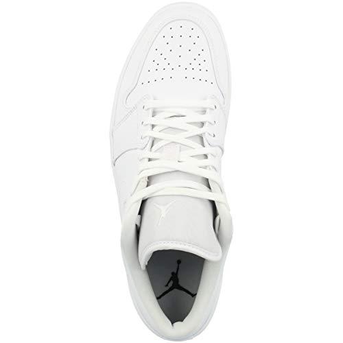 Nike Air Jordan 1 Low, Zapatillas de bsquetbol Hombre, Blanco, 49.5 EU
