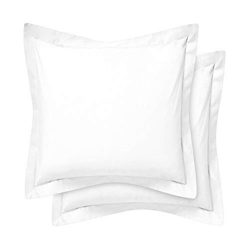 Komfort-sängkläder tung kvalitet 400 trådtäthet 100 % egyptisk bomull Oxford örngott paket med 2 – vit (standardstorlek 50 x 75 cm) Continental ( 65cm x 65cm ) Vitt