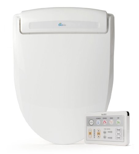 BioBidet Supreme BB-1000 Elongated White Bidet Toilet Seat Adjustable Warm Water, Self Cleaning,...