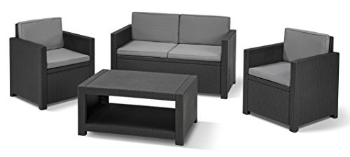 Allibert Lounge-Set Monaco 4tlg, graphit/cool grey