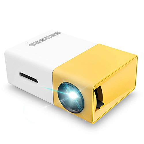 WYZQ Mini Proyectores de Espejo Inalámbricos Proyector con Proyección para Niños Presentes, Video TV Película, Juego de Fiesta, Entretenimiento al Aire Libre con Interfaces Hdmi USB AV