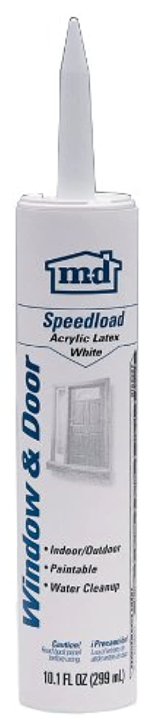 M-d Products GE14563 Speed Load Acrylic Latex Caulk, 10.1-Ounce, White