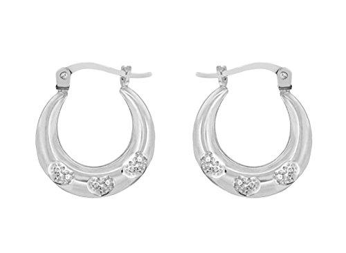 Tuscany Silver 8.53.8139 - Pendientes de plata de ley (925/1000), sin gema