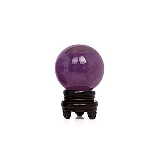Bola de Amatista Esfera Curación Arte Cristal Púrpura Piedra Pulida Decoración del hogar Gema de Peso Ligero Habitación Brillante portátil Regalo de artesanía(2cm)