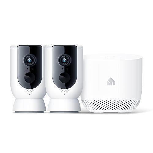 Kasa Home Security Camera System Wireless Outdoor & Indoor Camera by TP-Link, 1080P HD with Siren, Night Vision, Battery Rechargeable, Magnetic Wall Mount, Works w/Alexa & Google Home (KC300S2)