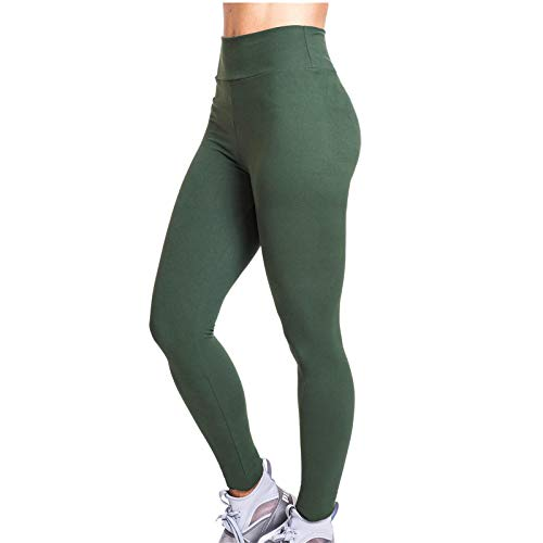Push Up Mallas Mujer Running Transpirables Color sólido Cintura Media Mallas de Deporte de Mujer Elásticos Pantalones Deportivos Fitness Gimnasio