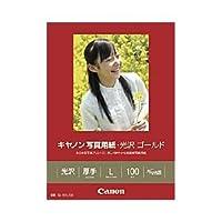 (業務用セット) キャノン(Canon) 写真用紙・光沢 ゴールド L判 1箱(100枚) 【×3セット】 ds-1643154