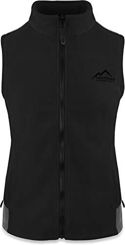 normani Fleece Weste für Damen mit Reißverschlusstaschen, Stehkragen, ZIP-T3K System Farbe Schwarz Größe M