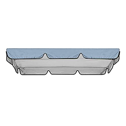 3-Sitzer, Ersatzdach für Gartenschaukelsitz, wasserdichte Terrassen-Hängemattenabdeckung, Abdeckung für Schaukelstuhl, Dach-Sonnenschutz für Outdoor, Garten, Terrasse, nur Abdeckung