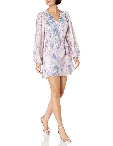 Parker Women's Long Sleeve, Roslyn Dress, Watercolor Haze, 6