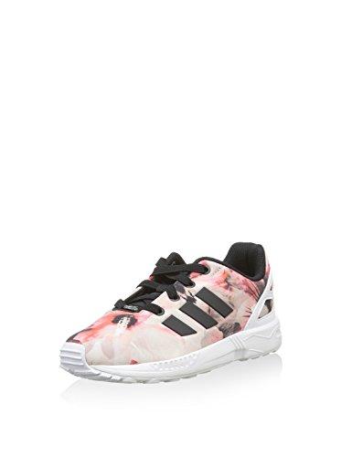 adidas Unisex Kinder Zx Flux EL I Sneaker, Schwarz Rosa Weiß, 23 EU