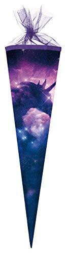 Schultüte / Zuckertüte / 85cm / eckig / 'Einhorn Galaxy'