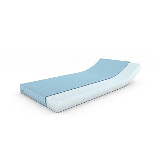MSS® Matratze für Wohnwagen/Wohnmobil/Boot mit Bezug, blau, 70 cm x 200 cm