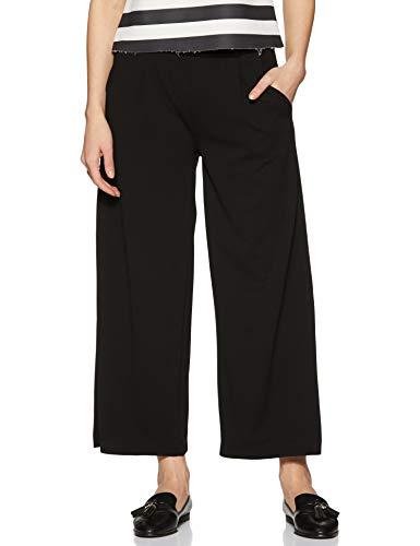 Jacqueline de Yong NOS Damen JDYGEGGO Ancle Pant JRS NOOS Hose, Schwarz (Black W Black Buttons), 40 (Herstellergröße: L)