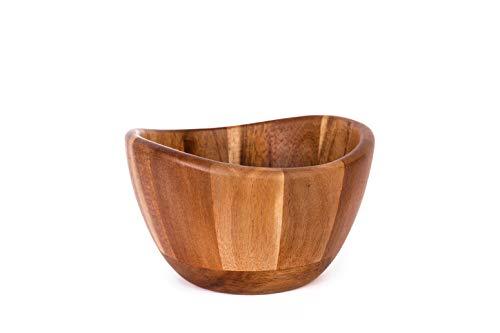 THE CHEF COLLECTION Cuenco rústico de madera de acacia con un estilo y diseño únicos para ensalada