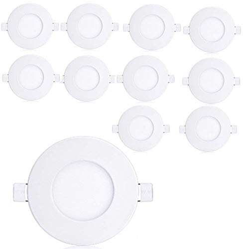 YESDA 10xPlafon Techo LED Downlight focos led empotrables Panel led Blanco Cálido 3000-3500K Ultra delegada AC 85 -265V Transformador Incluido (6)