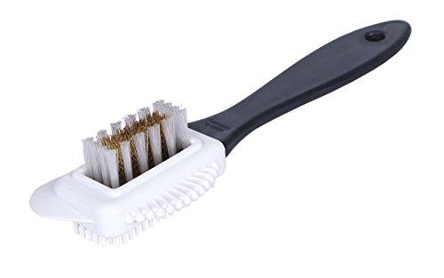 Universelle Schuhbürste mit Messing- und Nylonborsten - Die Allzweck-Waffe zur Reinigung und Pflege von Rau- und Wildleder Schuhen (Made in Germany)