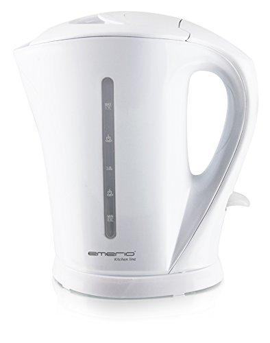 Emerio WK-111082 Elektrischer Wasserkocher, BPA-frei, 2200 W, 1,7 l, Polymer, Weiß