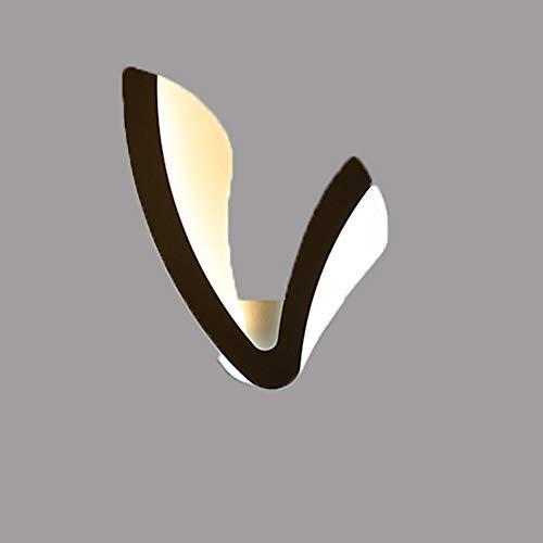 WZHZJ Lámpara de Pared LED de la lámpara de Pared Baño Blanco/Negro Iluminación Interior Iluminación Interior Lámpara de Pared LED (Color : B)