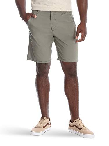 Wrangler Authentics Men's Performance Comfort Waist Flex Flat Front Short, Army Green, 38