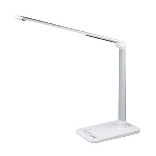 Tafellamp, intelligente 7-versnellingen dimmenoog lamp voor werk kantoor en bed lezen, LED kinderen leren creatieve blauwe decoratieve tafellamp